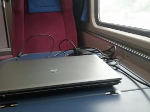 In der 1. Klasse der Deutschen Bahn von Graz nach München