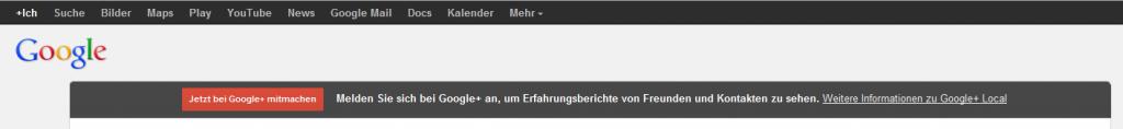 Screenshot: Aufforderung Google+ Konto anzulegen jetzt bei jedem Places/Local-Eintrag!