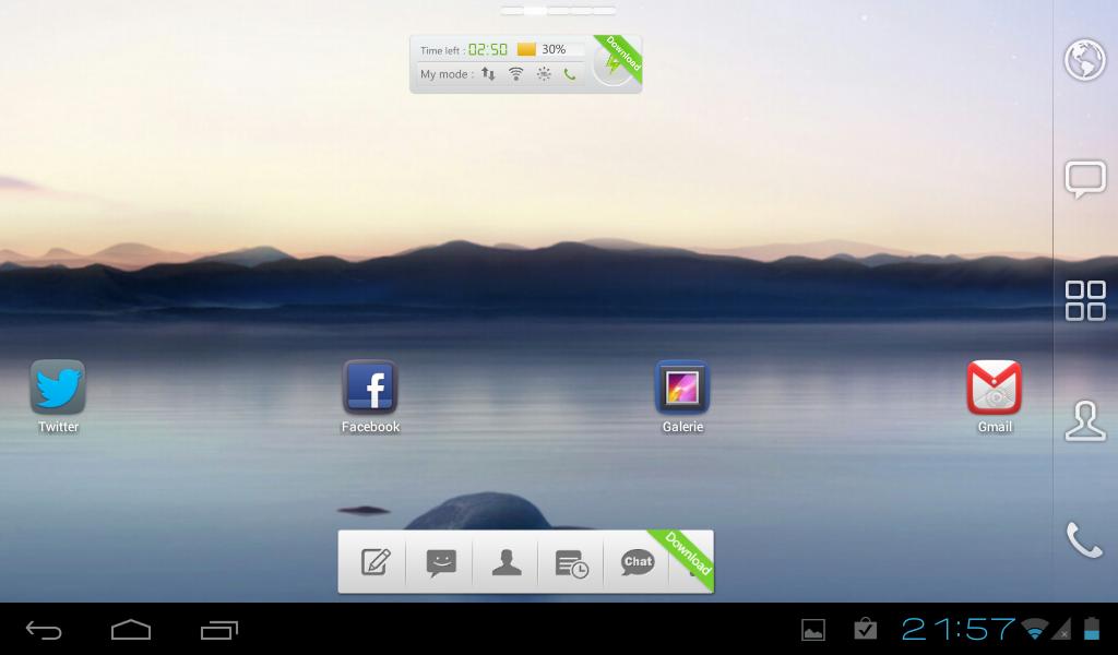 Cyanogenmod 9 mit GO Launcher EX