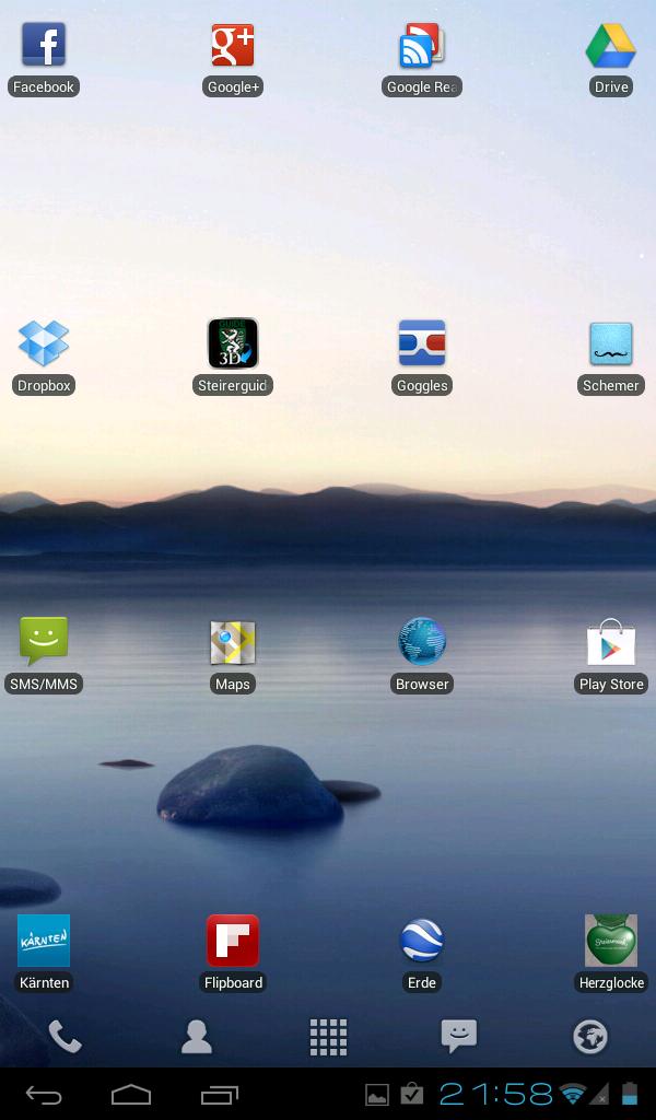 Cyanogenmod 9 mit Launcher Pro