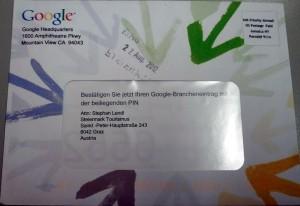 Bestätigungsbrief von Google - hübsch bunt! ;-)