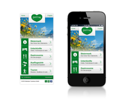 Mobile Version von steiermark.com