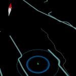 Danach startet die App jeweils mit einer düsteren Version der Google Maps Ansicht der eigenen Umgebung (Standort-Dienste müssen aktiviert und Weitergabe der Daten zugelassen sein!) mit freier Energie und Portalen in der Umgebung - in der Provinz sieht es hier - noch -sehr düster aus. ;-)