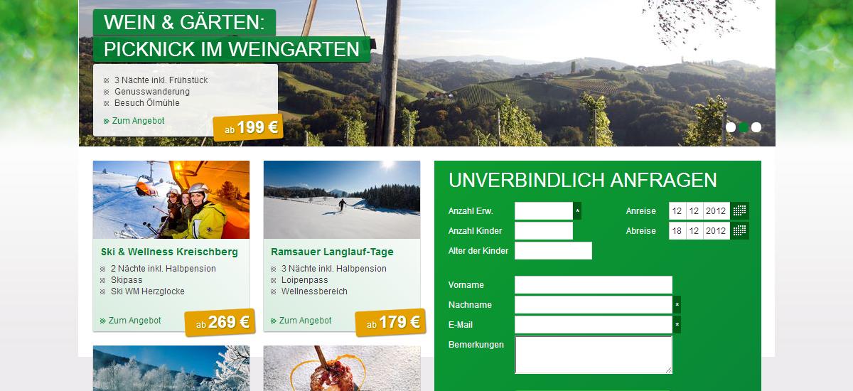 Screenshot Steiermark Touristik - www.steiermark-touristik.com