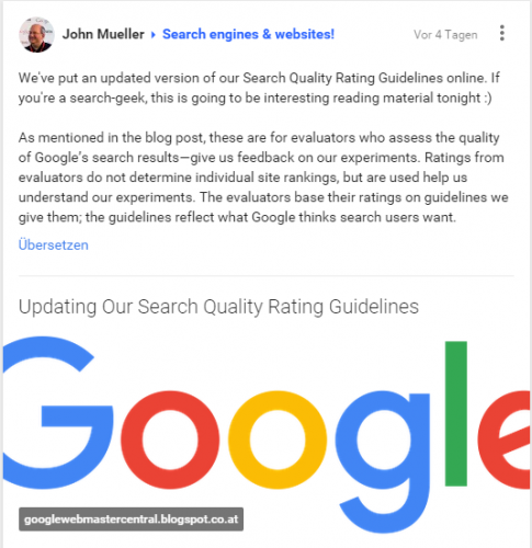 Search Quality Rating Guidelines 2015 von Google