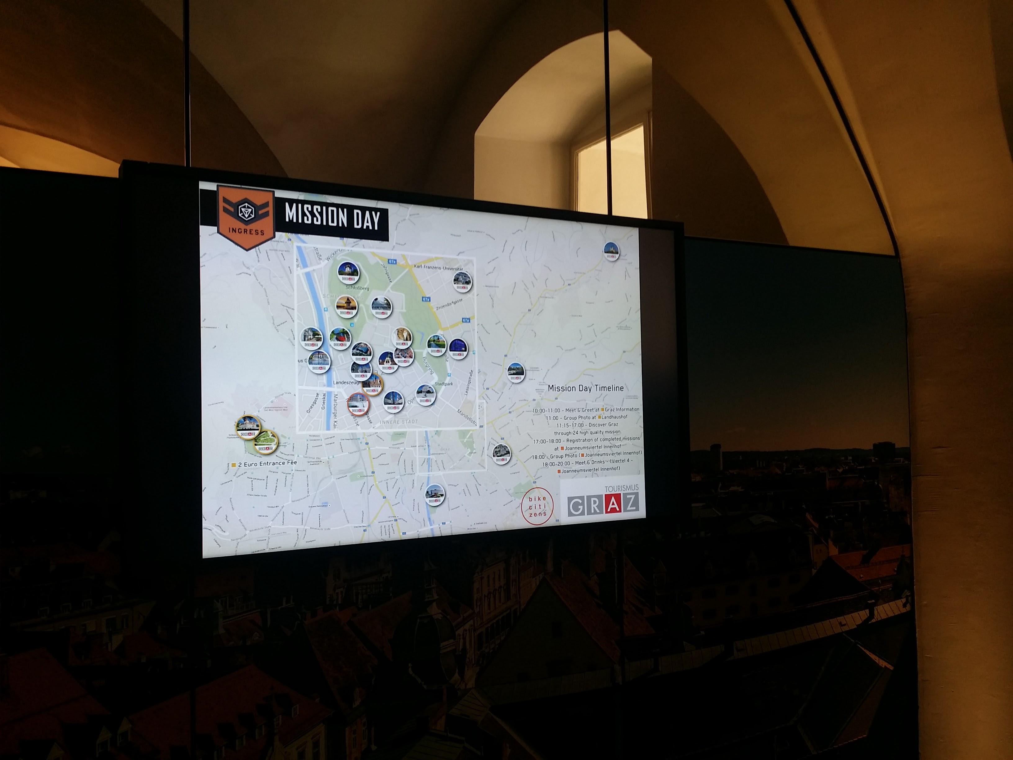 Mission Day Karte am Infoscreen - Foto: Stephan Lendl