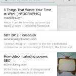 Pocket App - Artikel-Liste am Handy