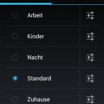 Screenshot: Profile - Ein Highlight von CM 9: Sehr fein anpassbare Profile für alle Situationen. Jede vorstellbare Fein-Einstellung ist möglich.